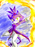 Blaze the cat by Hamlet1616