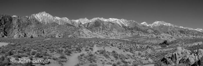 The Sierra Nevada and the Alabama Hills by JBaxterPhotography