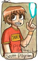 Scott pilgrim SPIRIT DETECTIVE by Milkinashoe