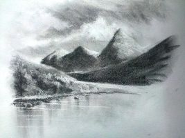 Landscape in charcoal by ronnietucker