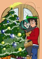 Merry Christmas by Duncan and Gwen!! by Dalhia-Gwen