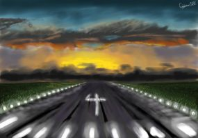 Runway at dusk by fighterace2688