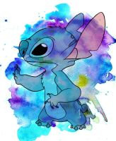 Stitch Watercolor by jmascia