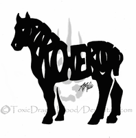 Percheron tattoo by ToxicDragonBlood