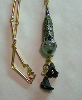 Victorian Black Lily Lavalier by mymysticgems