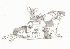 Paws of Hope (sketch) by wahyawolf