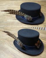 Hat with fascinators by SarahTheSlightlyMad