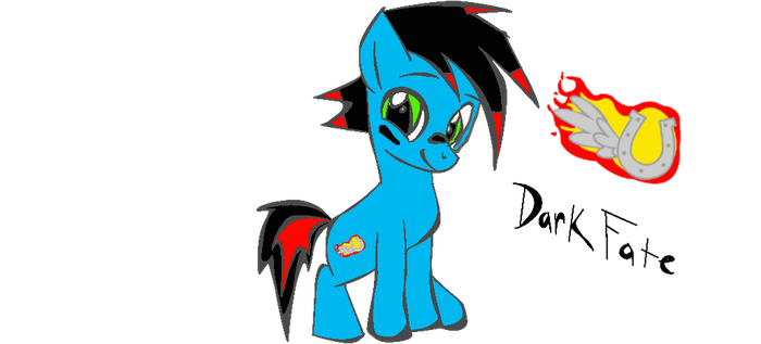 Dark Fate before a demon as a filly by elitepegasister