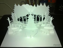 Winter forest pop-up card by agomic