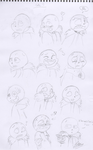 Sans's expressions by leyzy