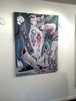 Lice Demons on wall by Comickpro