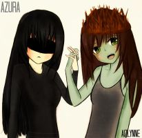 {azura} and {aizlynne} by Aizlynne