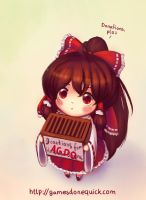 Touhou - AGDQ Hype of Reimu by cubehero