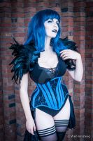 Blue on Black by MorielCorsetry