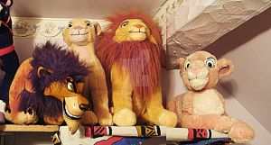 Four Lion King Plush Animals by toyjunkie1967