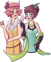 Kitty and Lottie by BleedBackAviArt