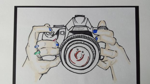 Marker camera/ hands by AmyTheStrange1
