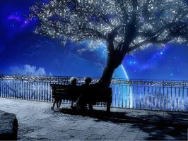 a tree and the space by CHEN-CHUNNY
