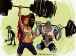 Gym buddies by Gretlusky