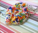 Sugar Lips - Resin Necklace by elephont