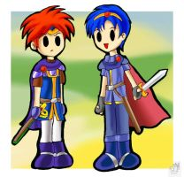 Paper Roy and Marth by SigurdHosenfeld