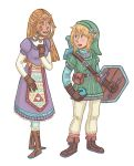 Zelda and Link by Cup-Kayke