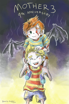 Mother 3 9th Anniversary by Kosmotiel