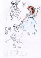 Peter Pan sketches 2 by My-Anne