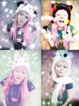 Cute Animal Hat Pink Hair Girl by cherrybomb-81