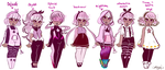 Ref Sheet For Sanna's Outfits by cutemagicalstar