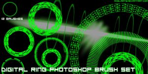 Digital Rings Brush Set by AxelArts