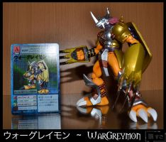 Figure 42 - WarGreymon with Card by Oukami-SuGo