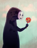 no-face: lollipop? by cheesynoodle