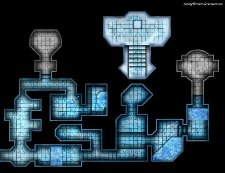 Clean ice dungeon map for online DnD / Roll20 by SavingThrower