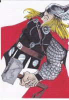 Thor sketch card by LangleyEffect