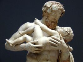 satyr with young Bachus by mgv4