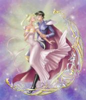 Mamoru and Usagi by AnasteziA