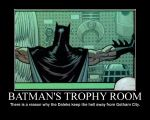 Motivation - Batman's Trophy Room by Songue