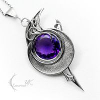 ARDHZNAR - silver and amethyst by LUNARIEEN