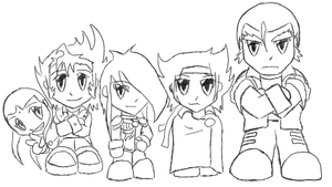 Chibi G Fighters -lines- by Autobot-Windracer
