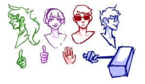 Homestuck Basic Shading Sketch by Evionth