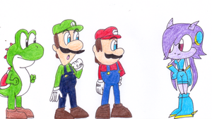Mario, Luigi and Yoshi Meets Lilac by sonic4ever760