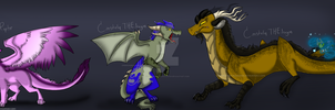 KestrelRaptor and ConsteliaTHEdragon egg adopts by Cynderthedragon5768
