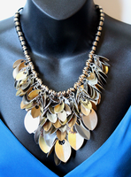 Industrial Rain of Scales Necklace by SerenFey