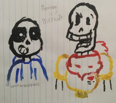 Terribly Painted Skelebros by Sanstheskelepun10