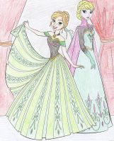 Anna and Elsa by Astrogirl500