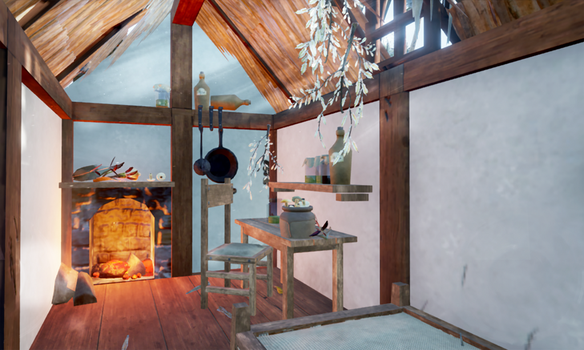 The Herbalist's Hut, inside by toAflame