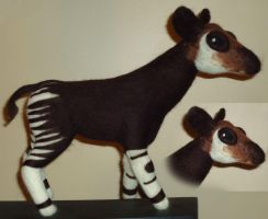 Felted Okapi by Lobster-Ball