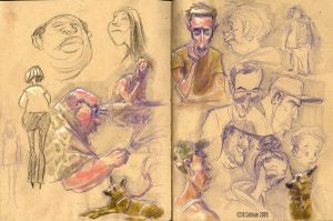 recent sketchbook pages by davidsdoodles