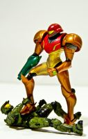 samus vs chief by memetronic